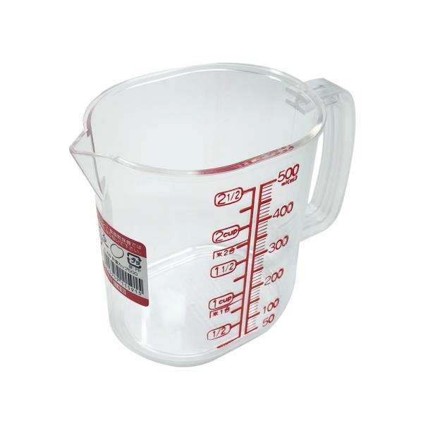 나카야 투명계량컵 500ml 일본 베이킹 눈금 플라스틱
