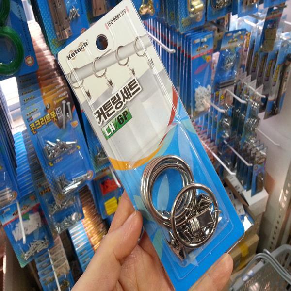 코텍 커튼링세트 대6p K-3969 커텐브라켓/커텐봉걸이