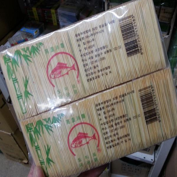 무뎌지지않는 미세모대나무이쑤시게 4000입/이쑤시개