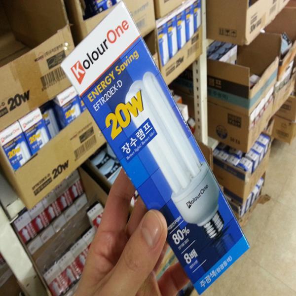 장수램프/안정기내장형 EFQU20EX-D 20W/주광색