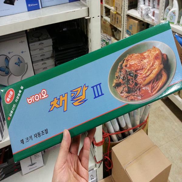 이태리산업 바이오채칼3 슬라이서/채썰기/강판/무생채
