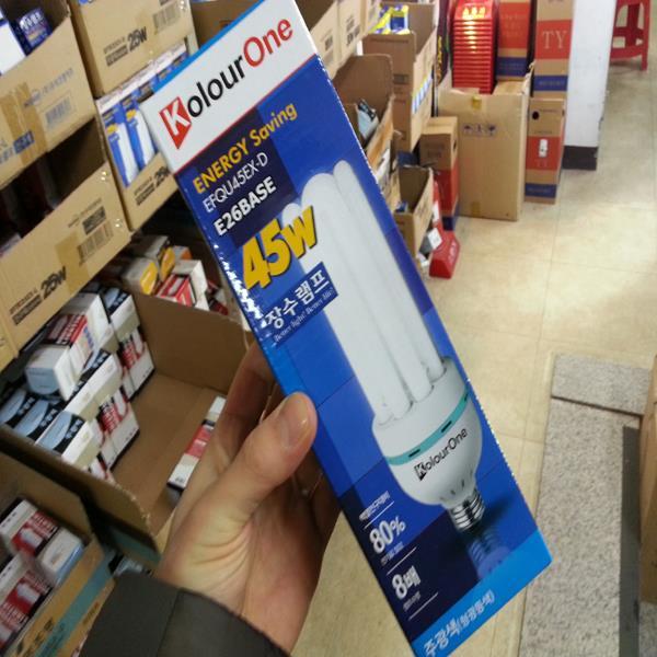 장수램프 안정기내장형 EFQU45EX-D 45W 주광색 전구색