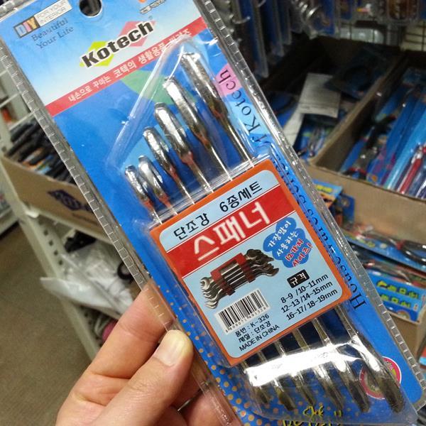 코텍 스패너 6종세트 K-326 스패너/렌치/펜치/몽키