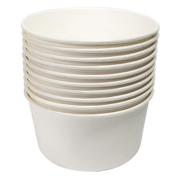 일회용 일회용 분식용기 520ml 10P 일회용그릇 종이그릇 포장