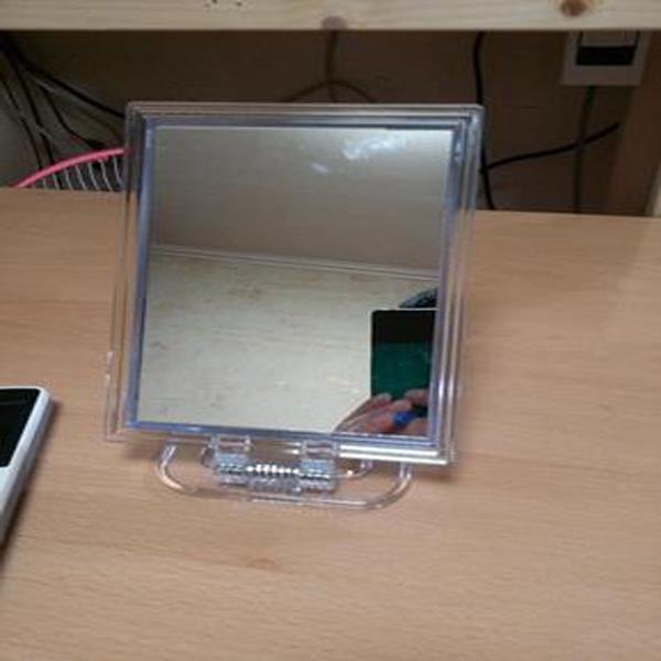 스탠드거울 칠성 신사각거울 소 13x9.5 탁상거울 접경 사각거울