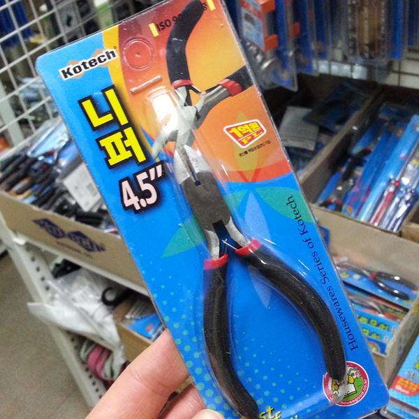 코텍 니퍼4.5인치 k-8829 렌치 펜치 니빠