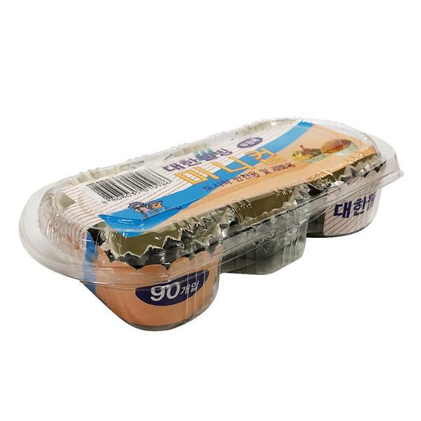 대한웰빙 미니컵(타원형) 90매 홈베이킹 은박컵 제빵