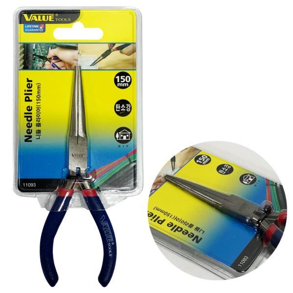VALUE 니들플라이어(150mm) 11093 나들롱로우즈 뺀찌