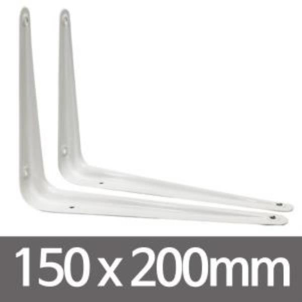 ㄱ선반받침대(2개입-화이트150x200)벽선반 고정선반