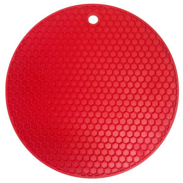 벌집 실리콘 원형 냄비받침(17cm) 실리콘받침대