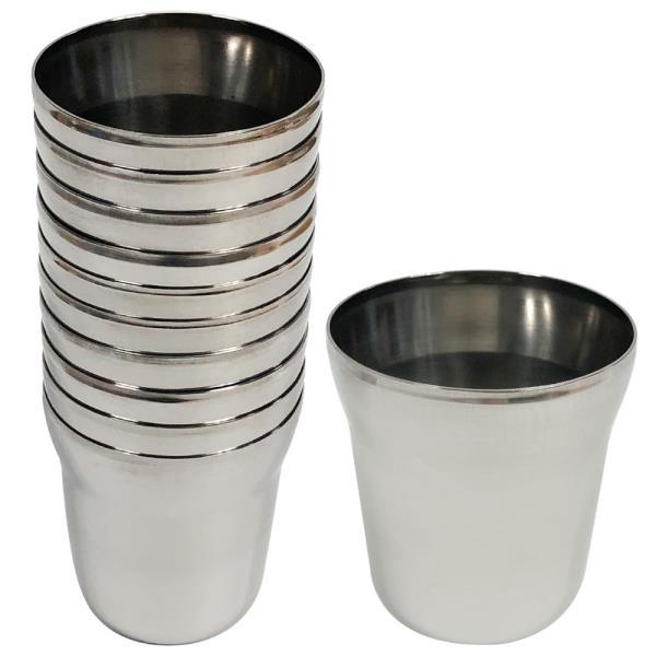 스텐물컵(170ml)10P 스텐컵 식당컵 병원 업소용 급식