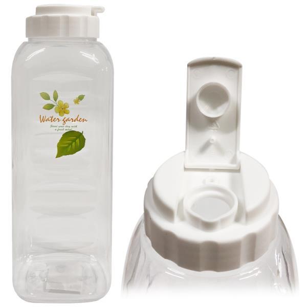 허브 사각물병(1.2L)플라스틱물병 냉장고물병 물통