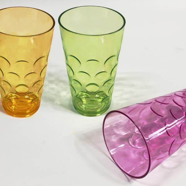 물방울 맥주컵(15cm) 물컵 맥주잔 플라스틱컵 칼라컵