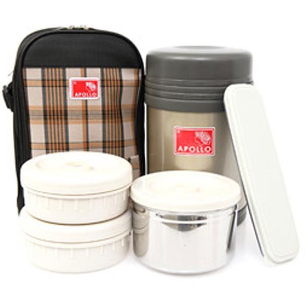 아폴로 도시락1600(1550ml)보온도시락 진공 찬통세트