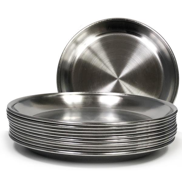 한국금속 스텐접시x10개(3호/14.7cm)찬기 반찬 그릇