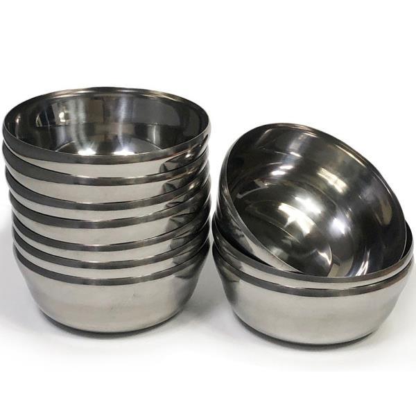 한국금속 스텐대접x10개(대/13cm)합뱅이 국그릇 급식☆