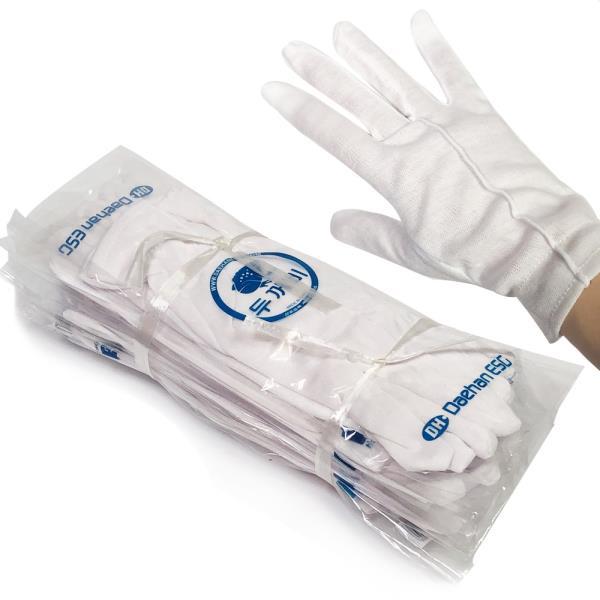 예식장갑 민자(10켤레)흰장갑 면장갑 행사장갑 일반형