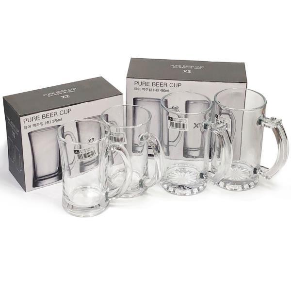 아트 퓨어 맥주컵2P(선택) 글라스컵 유리컵 맥주잔 술