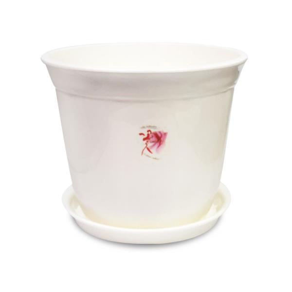웰빙 라인원화분+화분받침(5호)원형화분 받침대 원예