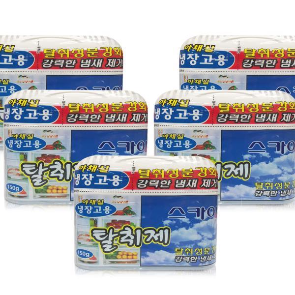 해피룸 냉장고탈취제 150g(스카이향)x(5개) 김치냄새