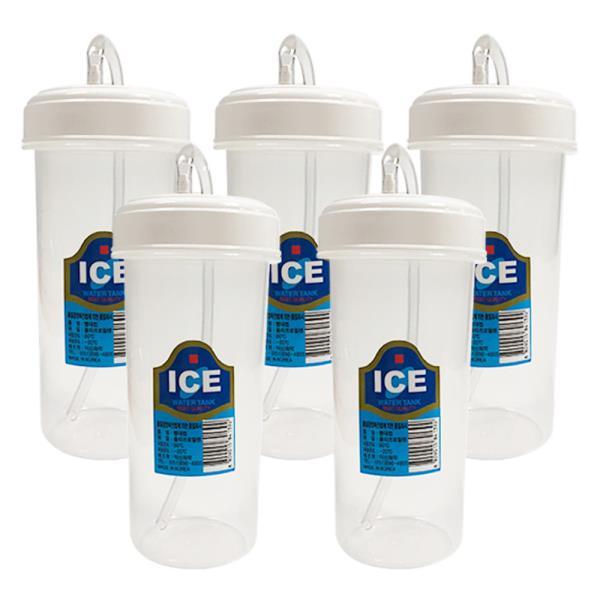 덕신 빨대컵(300ml)x(5개) 환자용물컵 병원 물컵 물병