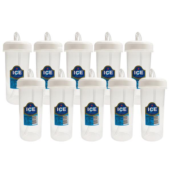 덕신 빨대컵(300ml)x(10개) 환자용물컵 병원 물컵 물
