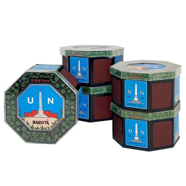 바로타유엔통 성냥 8각x(5개) UN팔각성냥 600개비