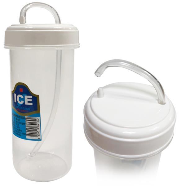 덕신 빨대컵(300ml)병원물컵 빨대물병 PP빨대 물컵