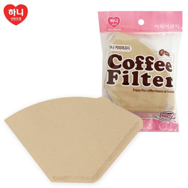 하니 커피여과지 2~5인용(100매입) 핸드드립 종이필터