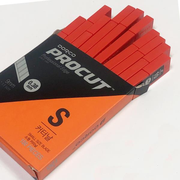 도루코 커터날S x1박스(100개)칼날 소형커터날 커터칼