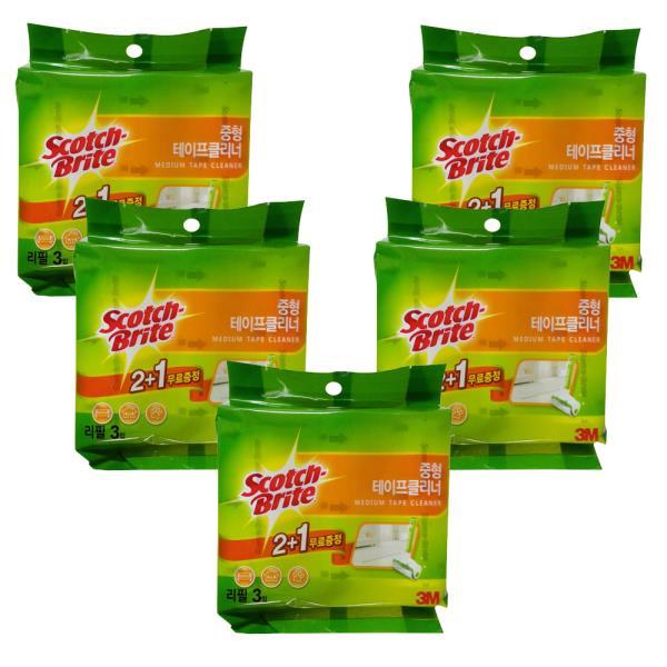 스카치 브라이트 테이프클리너 리필(중형) 2+1 x(5개)