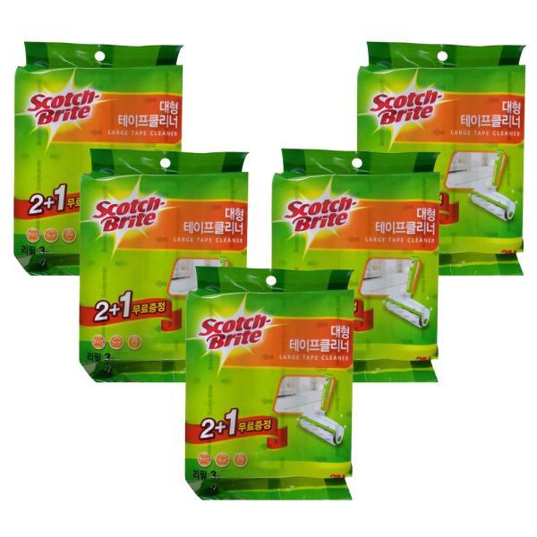 스카치 브라이트 테이프클리너 리필(대형) 2+1 x(5개)