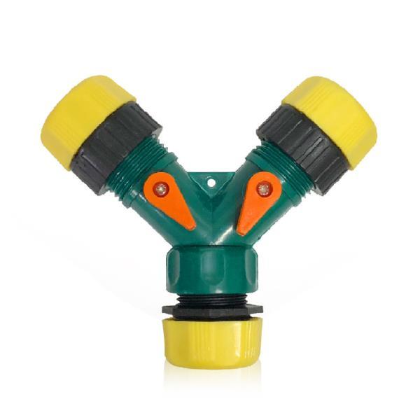 n3구 호스분배기(노랑)양갈래 호스연결구 수도연결