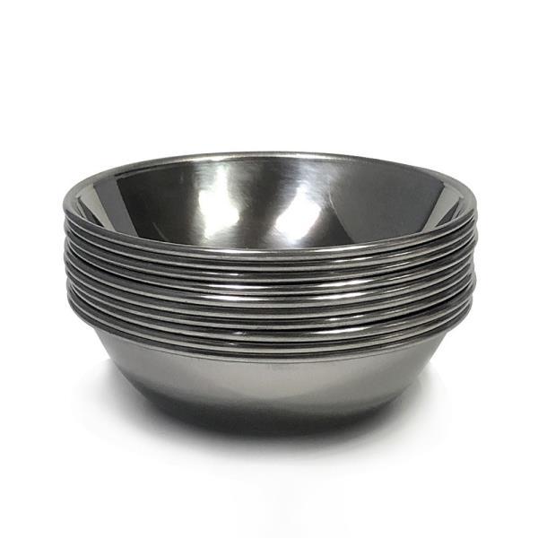 한국금속 스텐찬기(소12cm) x(10개) 접시 식기 반찬
