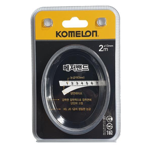 코메론 메저밴드 줄자2m (KMF20)피트자 접착줄자 측정