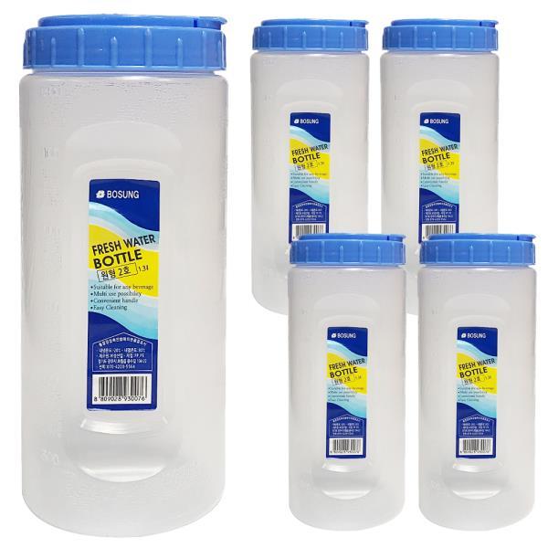 보성 물병1.3L (원형2호) x(5개) 원형물통 냉장고물병