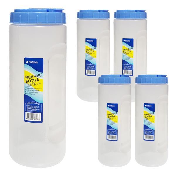 보성 물병1.5L (원형1호) x(5개) 원형물통 냉장고물병