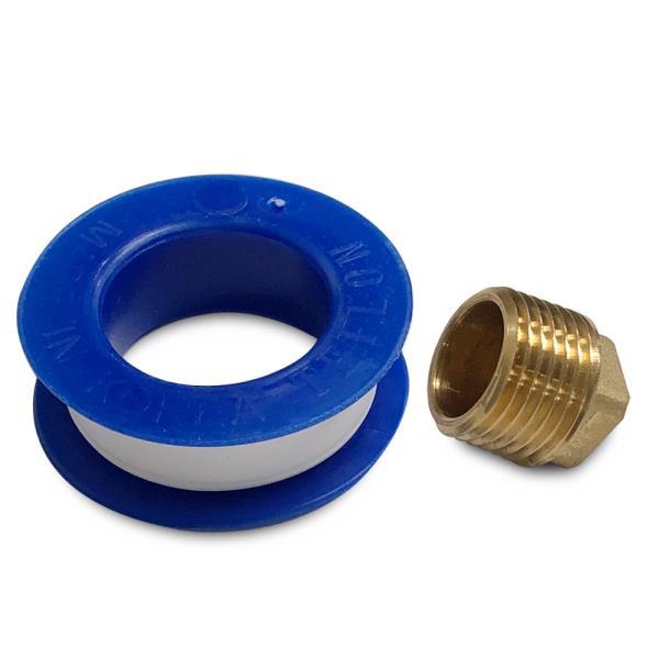 삼원 신주 메꾸라 15mm(테이프포함) 플러그 파이프