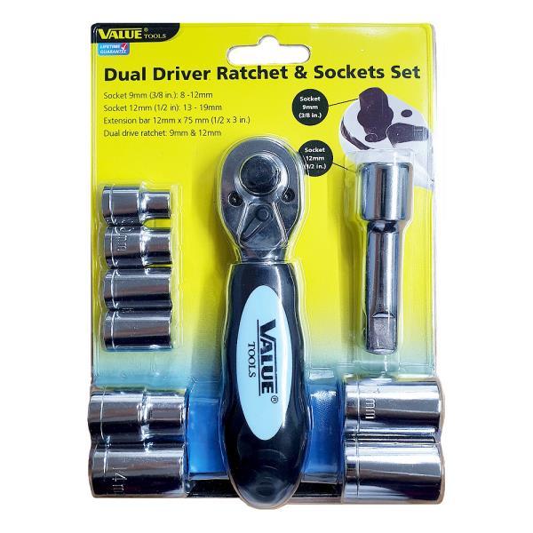 벨류 드라이버 라쳇&소켓세트10p (11201)복스세트