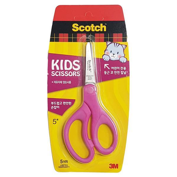 3M 어린이가위(핑크) 안전가위 양손가위 공작가위