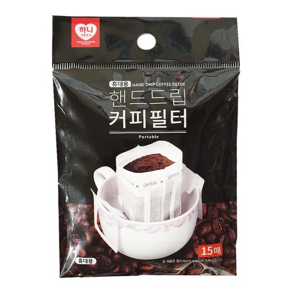 하니 핸드드립 커피필터(15매) 커피드리퍼 커피여과지
