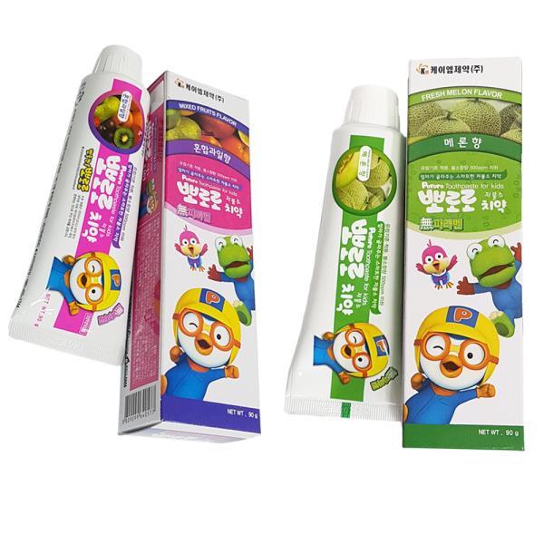 케이엠제약 뽀로로 치약(선택) 어린이치약 무파라벤