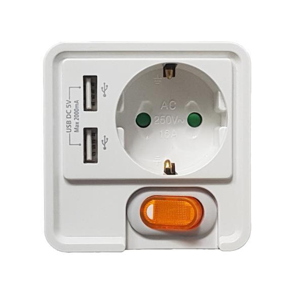 f펄스 1구 USB 콘센트 (S1216A)USB충전 5v전원스위치