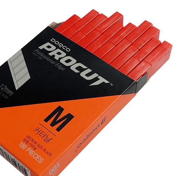 도루코 커터날M x1박스(100개)칼날 중형커터날 커터칼