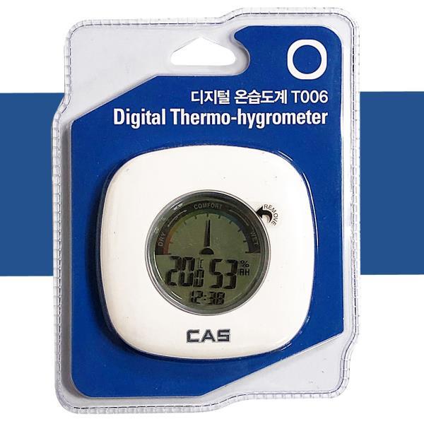 온도계 카스 디지털 온습도계 T006 벽걸이 쾌적 온도 습도