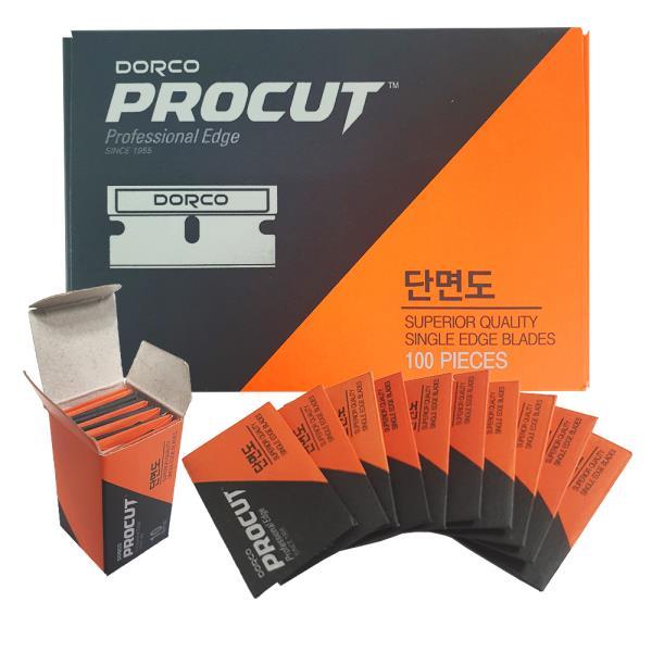 도루코 단면도 면도날 x1박스(100개)단면칼날 사무용
