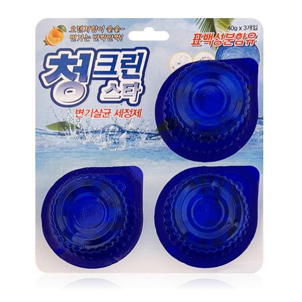태광 청그린스타 3P 변기세정제 악취제거 살균 소독
