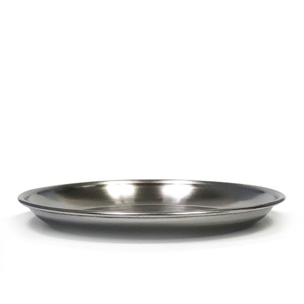 한국금속 스텐접시1P (2호 13.8cm)찬기 반찬접시 그릇