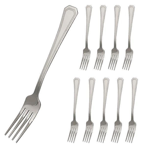 포크 양식기포크10p 18.7cm 땡땡이포크 양식포크 스텐포크