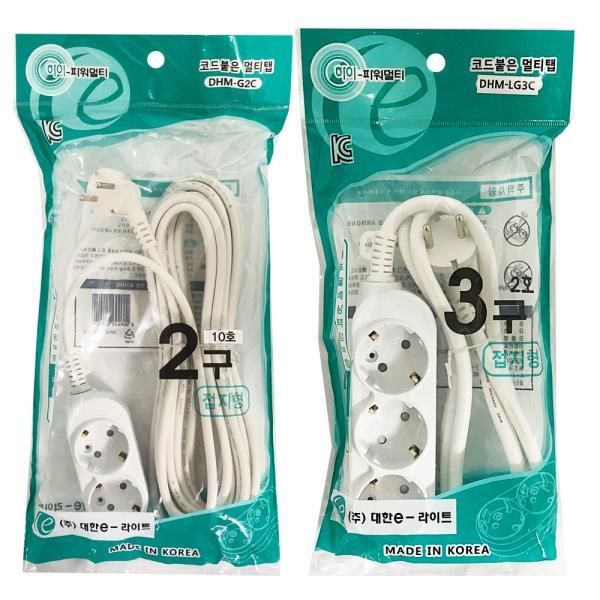 f대한 접지 멀티탭10호(2구/3구) 절전 전기선 콘센트